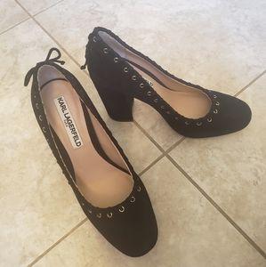 Karl Lagerfeld Paris leather heels